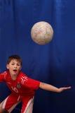 Jonge voetballer royalty-vrije stock foto