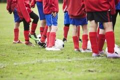 Jonge Voetballers Stock Foto