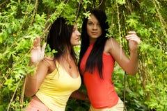 Jonge volwassenen Twee Jonge Vrouwen Stock Afbeeldingen