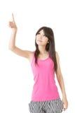 Jonge vrij Aziatische vrouwenpointin Royalty-vrije Stock Foto's