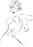 Jonge vrouw stock illustratie