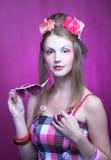 Jonge vrouw. Stock Fotografie