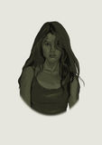 Jonge Vrouw 15 Royalty-vrije Illustratie