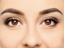 Jonge vrouw, close-up van ogen royalty-vrije stock fotografie