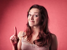 Jonge vrouw die een idee hebben Royalty-vrije Stock Foto