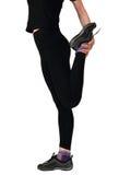 Jonge vrouw die het been opleidt Royalty-vrije Stock Afbeeldingen