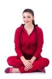 Jonge vrouw die oefeningen doen Royalty-vrije Stock Afbeelding