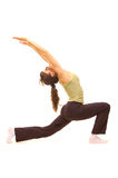 Jonge vrouw die oefeningen doet Stock Fotografie