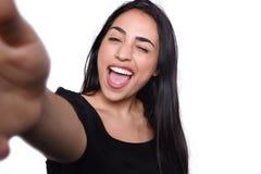 Jonge vrouw die selfie nemen Royalty-vrije Stock Fotografie
