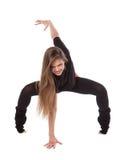 Jonge Vrouw die Yoga doet Stock Afbeeldingen