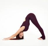 Jonge Vrouw die Yoga doet Royalty-vrije Stock Afbeelding