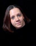 Jonge Vrouw, drijvend hoofd stock afbeelding