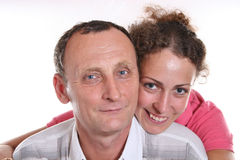 Jonge vrouw en haar grootvader Royalty-vrije Stock Afbeelding
