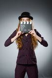 Jonge vrouw in film Stock Fotografie