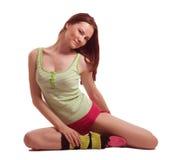 Jonge vrouw het praktizeren sporten Royalty-vrije Stock Foto's