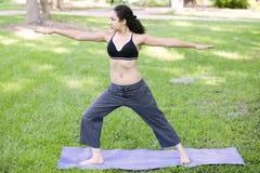 Jonge vrouw het praktizeren Yoga Stock Fotografie