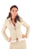 Jonge vrouw in kostuum Royalty-vrije Stock Foto's