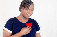 Jonge vrouw in liefde Royalty-vrije Stock Foto's