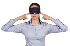Jonge vrouw met een blinddoek royalty-vrije stock afbeeldingen