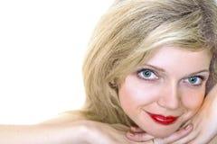Jonge vrouw met een make-up Stock Afbeelding