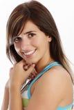 Jonge vrouw met glimlach royalty-vrije stock fotografie