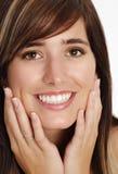 Jonge vrouw met glimlach royalty-vrije stock afbeeldingen