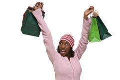 Jonge vrouw met het winkelen zakken Royalty-vrije Stock Foto's