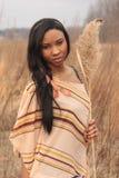Jonge Vrouw met Installatie Stock Foto