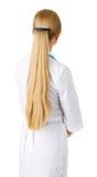 Jonge vrouw met lang blonde haar Stock Foto's