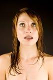 Jonge vrouw met nat haar Stock Foto