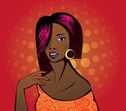 Jonge vrouw met rode lippen Royalty-vrije Stock Foto