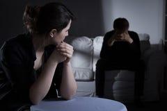 Jonge vrouw met schizofrenie Stock Foto's