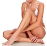 Jonge vrouw met slank lichaam stock afbeeldingen