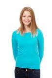 Jonge vrouw met toothy glimlach Royalty-vrije Stock Foto's