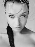 Jonge vrouw met vlecht Royalty-vrije Stock Afbeelding