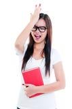 Jonge Vrouw in Ondraaglijke pijn Stock Fotografie