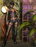 Jonge vrouw op een fantasiestadium Royalty-vrije Stock Afbeelding