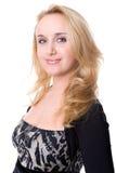 Jonge vrouw op wit Stock Foto's
