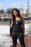 Jonge vrouw, in openlucht Stock Fotografie