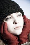 Jonge Vrouw in openlucht Royalty-vrije Stock Foto's