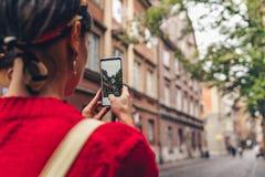 Jonge vrouw in Polen stock foto