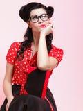 Jonge vrouw, student of leraar stock foto