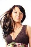 Jonge vrouw in sundress Royalty-vrije Stock Afbeeldingen