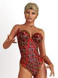 Jonge vrouw in swimwear Royalty-vrije Stock Foto