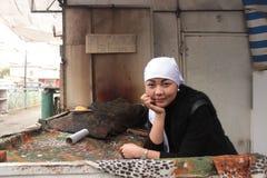 Jonge vrouw van Kyrgyzstan Stock Afbeelding