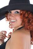 Jonge vrouw in zwarte kleding royalty-vrije stock foto