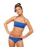 Jonge vrouw in zwempak Royalty-vrije Stock Foto