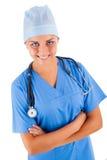 Jonge vrouwelijke arts Stock Afbeeldingen