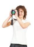 Jonge vrouwelijke fotograaf royalty-vrije stock afbeelding