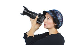 Jonge vrouwelijke fotograaf Stock Afbeeldingen